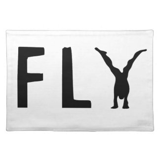 Fly funny text and human design placemat