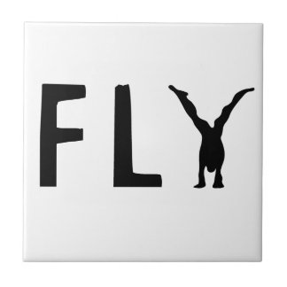 Fly funny text and human design tile