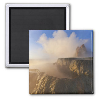 Fly Geyser with snow capped Granite Range 2 Square Magnet