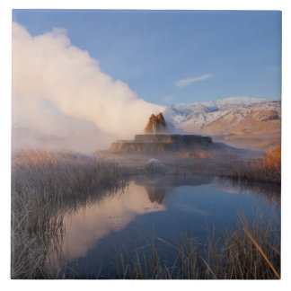 Fly Geyser with snow capped Granite Range 4 Tiles