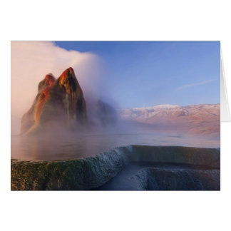 Fly Geyser with snow capped Granite Range Card