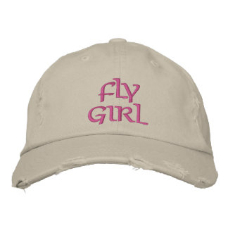FLY GIRL FLY FISHING EMBROIDERED HAT