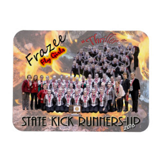 "Fly Girls State Kick Runners-up 3x4"" photo magnet"