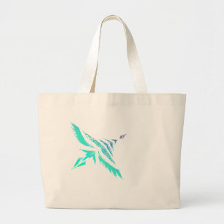 Fly High (Icy) Large Tote Bag