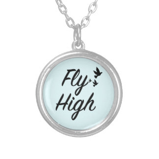 Fly High Silver Plated Necklace