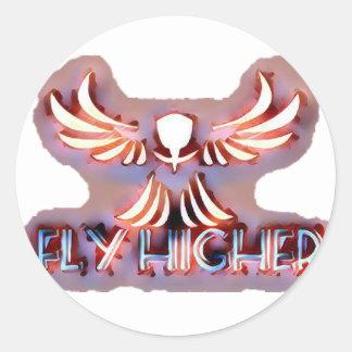 Fly-Higher Merch Classic Round Sticker