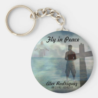 Fly in Peace Basic Round Button Keychain