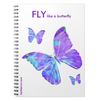 Fly Like a Butterfly Notebook by Jan Marvin