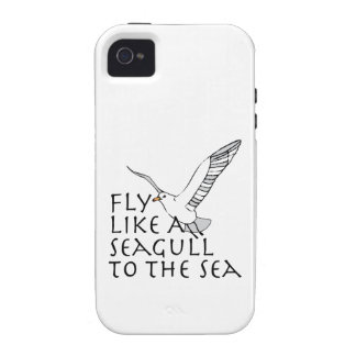 Fly Like A Seagull To The Sea iPhone 4/4S Covers