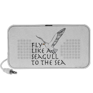 Fly Like A Seagull To The Sea Laptop Speaker