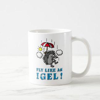 fly like at hedgehogs coffee mug