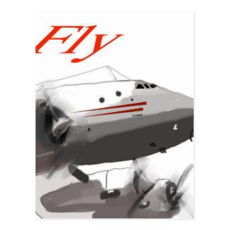 Fly  Lockheed Constellation Postcard
