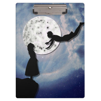 fly me to the moon paper cut universe clipboard
