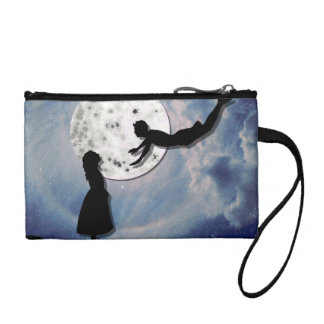 fly me to the moon paper cut universe coin purse