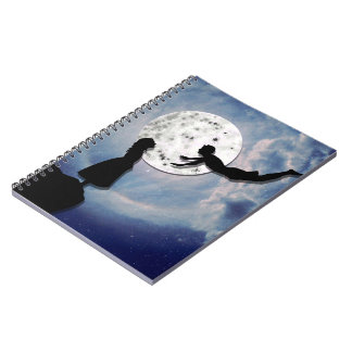 fly me to the moon paper cut universe notebook