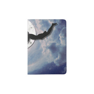 fly me to the moon paper cut universe passport holder