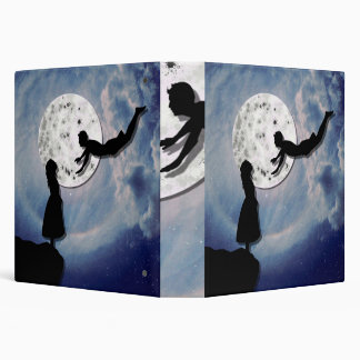 fly me to the moon paper cut universe vinyl binder