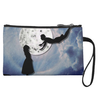 fly me to the moon paper cut universe wristlet