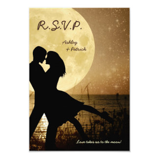 Fly Me to the Moon Wedding RSVP Invitation