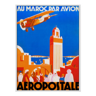 Fly Morocco Air. Aeropostale Poster