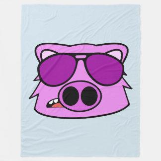 Fly Pig Fleece Blanket