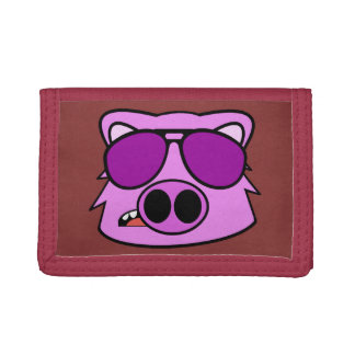Fly Pig Trifold Wallets