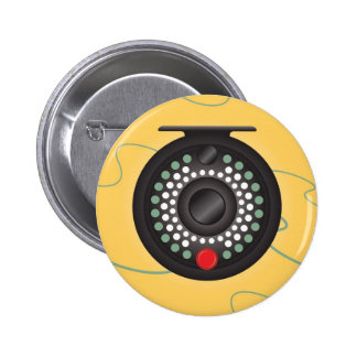 Fly Reel 2 Inch Round Button