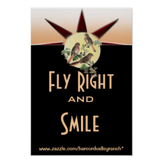 Fly right and smile poster