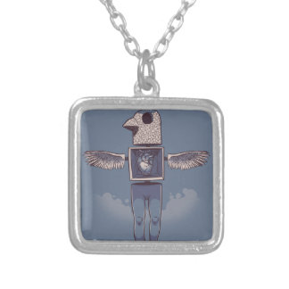 Fly Silver Plated Necklace