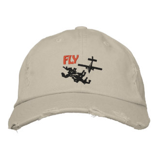 Fly Skydiving Embroidered Hat