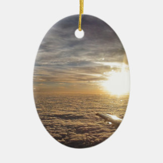 fly the heavenly skies ceramic ornament