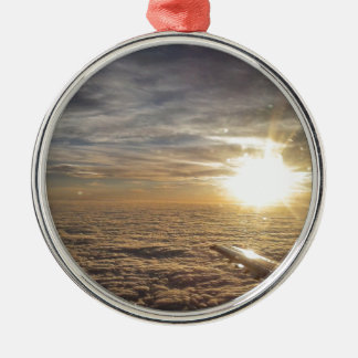 fly the heavenly skies metal ornament