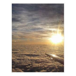 fly the heavenly skies postcard