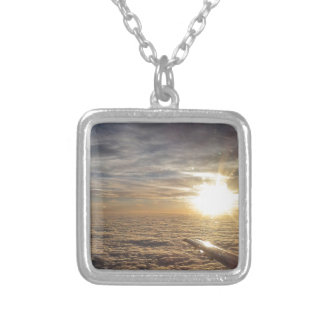 fly the heavenly skies silver plated necklace