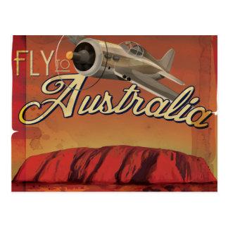 Fly To Australia Postcard