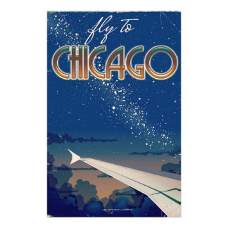 Fly to Chicago Stationery