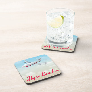 Fly To London Plane poster Coaster