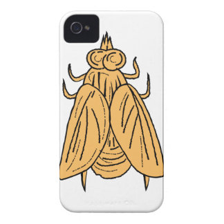 Fly Top View Drawing iPhone 4 Cases