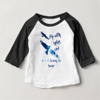 Fly with eagles baby T-Shirt