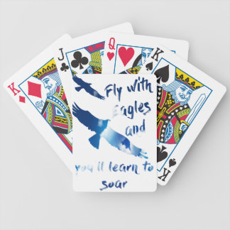 Fly with eagles bicycle playing cards