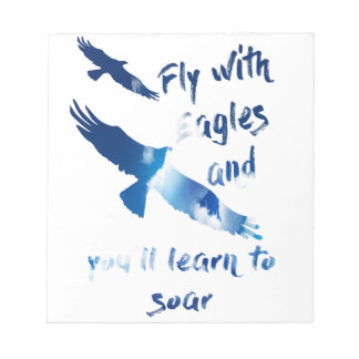 Fly with eagles notepad