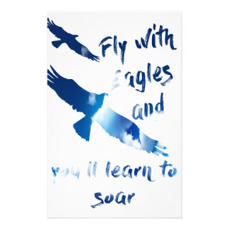 Fly with eagles stationery