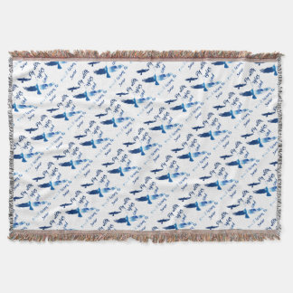 Fly with eagles throw blanket