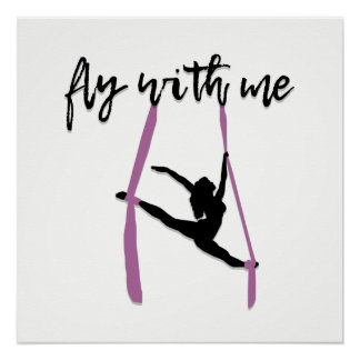 """Fly With Me"" Aerial Silks Art Print"