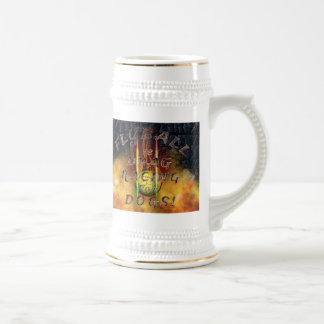 Flyball Flamz: Drag Racing for Dogs! Beer Stein