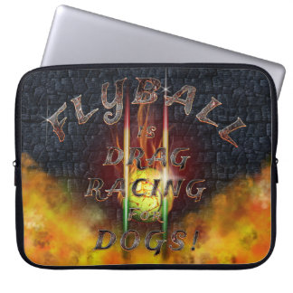 Flyball Flamz: Drag Racing for Dogs! Laptop Sleeve