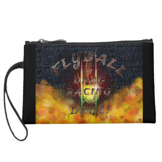 Flyball Flamz: Drag Racing for Dogs! Mini Clutch Wristlet