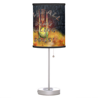 Flyball Flamz: Drag Racing for Dogs! Table Lamp