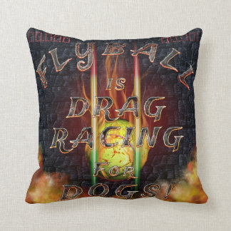Flyball Flamz: Drag Racing for Dogs! Throw Pillow
