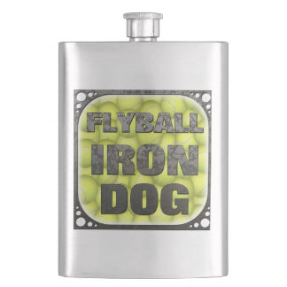 Flyball Iron Dog - 10 years of competition! Flask